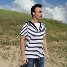 T-shirt à col marin FECAMP Adulte - Coton léger