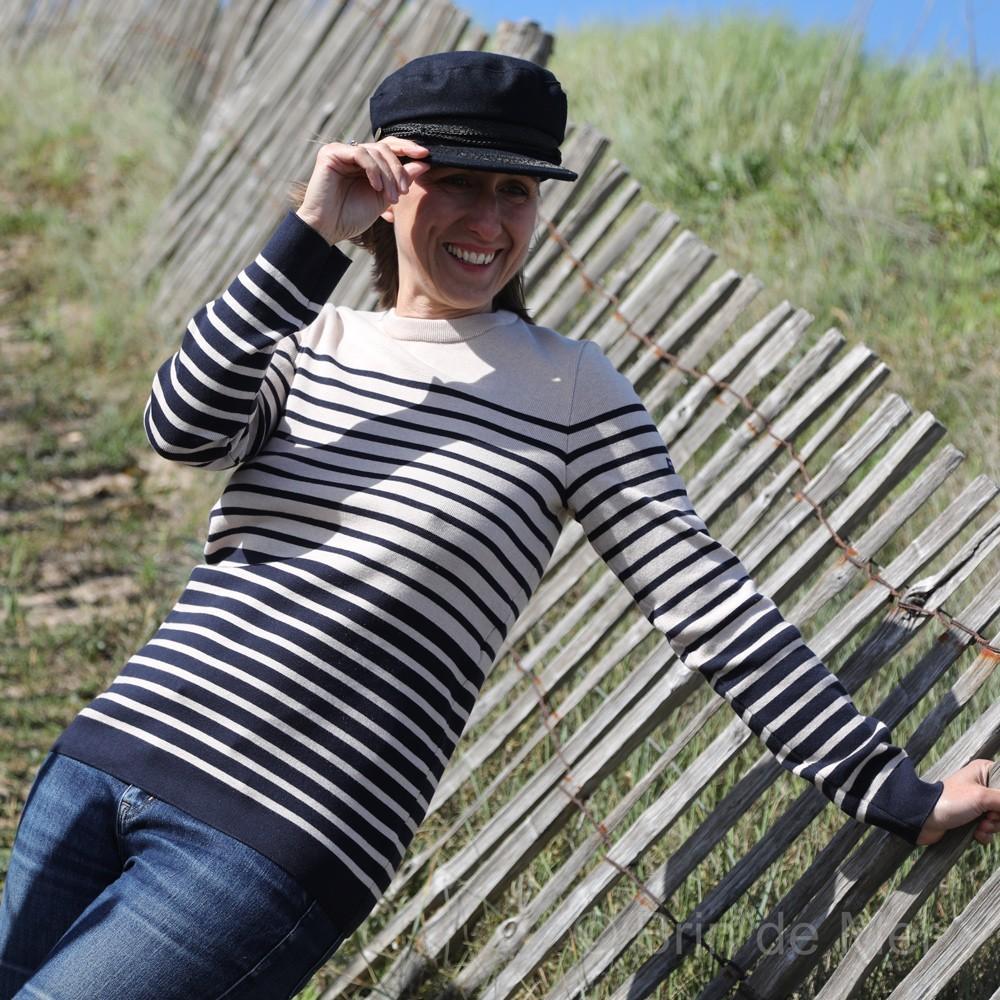 Pull marin femme FRONTIGNAN Brin de mer