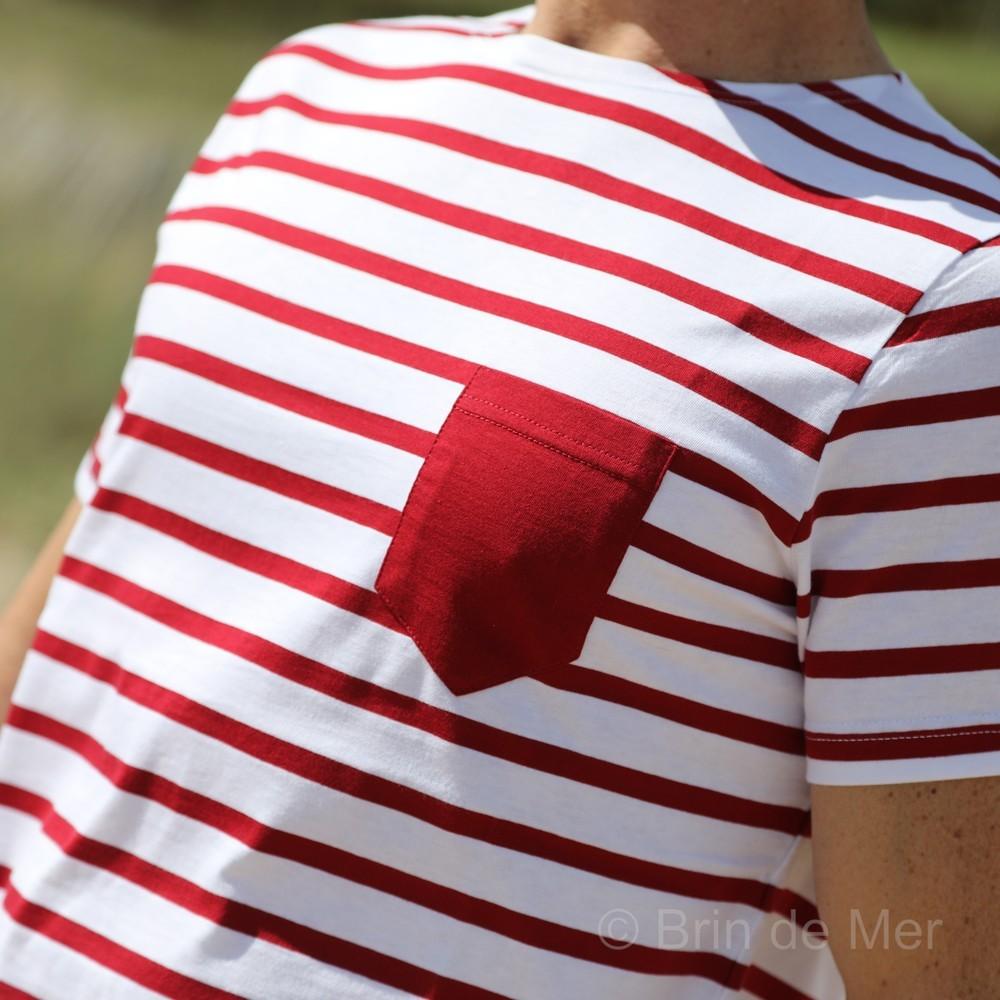 ecdea7951ca36 T-shirt rayé en jersey léger avec poche poitrine par Brin de Mer