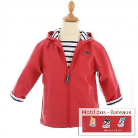 Ciré marin doublé coton HOBY6 - Rouge