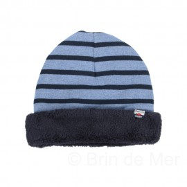 Bonnet réversible polaire GENIE - bleu jean/marine