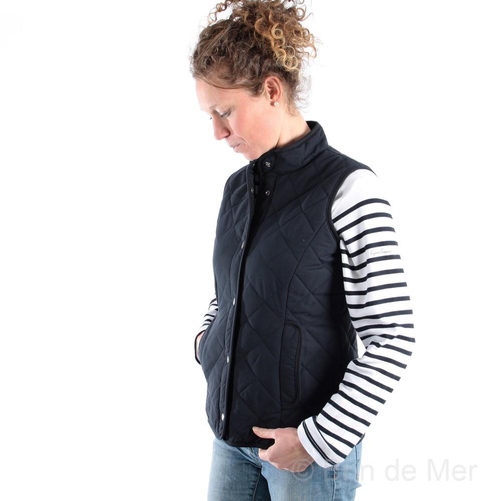 veste matelassée femme sans col