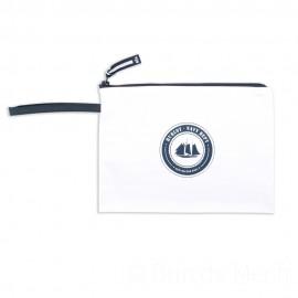 Pochette ciré zippée HUBLOT - blanc