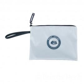 Pochette ciré zippée HUBLOT - métal argenté