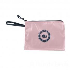 Pochette ciré zippée HUBLOT - métal rose
