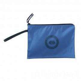 Pochette ciré zippée HUBLOT - métal bleu