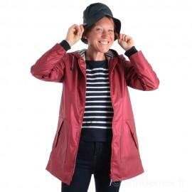 Ciré long DONA doublé polaire pour femme - Métal rouge
