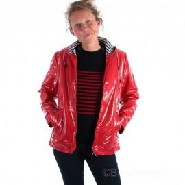 Ciré brillant doublé polaire LILIA - coloris rouge