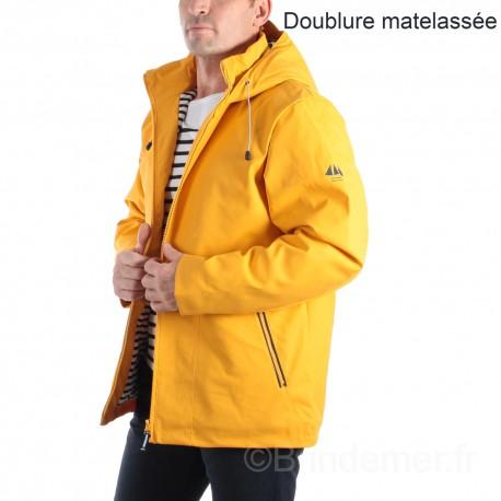 Parka ciré doublé matelassé homme LARRY - jaune soleil