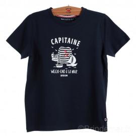 Tee-shirt manches courtes enfant PAISIBLE - devant