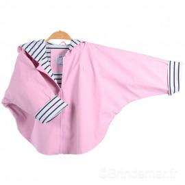 Cape ciré à capuche enfant NEMO rose