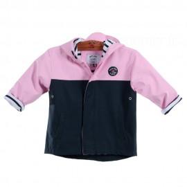 Ciré marin doublé coton bicolore OURAGAN - Rose Pastel / bleu marine