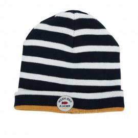 Bonnet marin pour enfant SURLACOTE - Navy/écru