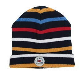 Bonnet marin pour enfant SURLACOTE - Multi stripe boys