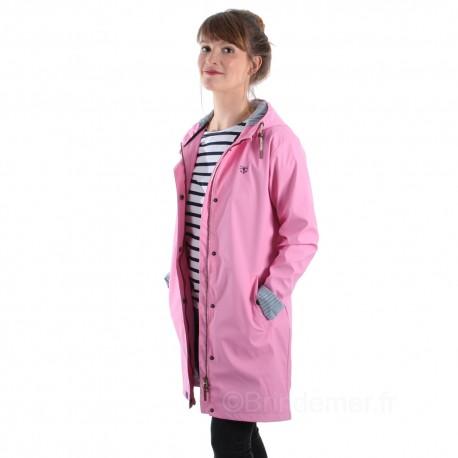 Ciré long coutures étanches BOWLINE pour femme - Soft pink