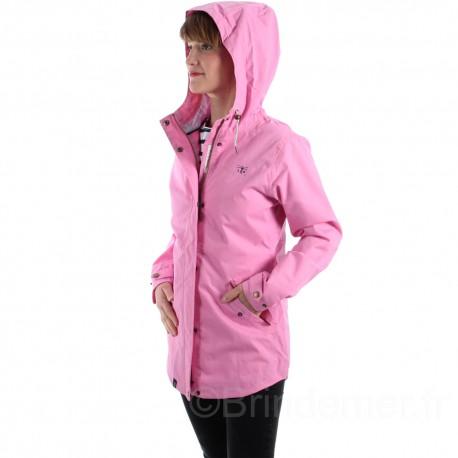 Veste coton imperméable pour femme TORI - Soft pink