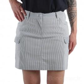 Jupe-short rayée JANYS - marine / blanc