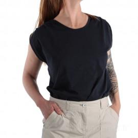 Tee-shirt uni en coton pour femme TELLA - bleu marine