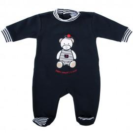 Pyjama bébé bleu marine PENCRAN