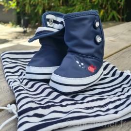 Bottes chaussons bébé RONRON - Bleu marine