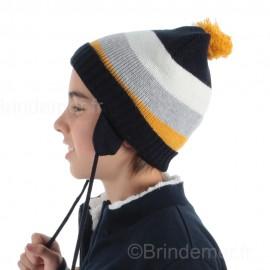 Bonnet style péruvien à pompon enfant DAGOBERT