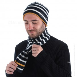 Bonnet marin pour adulte MAVRIC (ici associé à l'écharpe BALNEAIRE, vendu séparément)