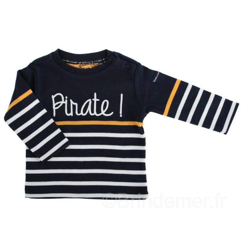 Tee-shirt SUBLIME pirate pour garçon