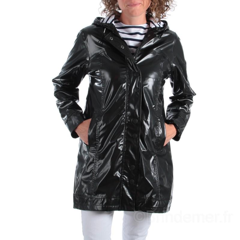 Veste imperméable noire pour femme CAORLINA