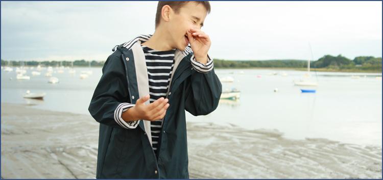 Ciré marin doublé polaire imperméable pour enfant et ado par la marque HUBLOT
