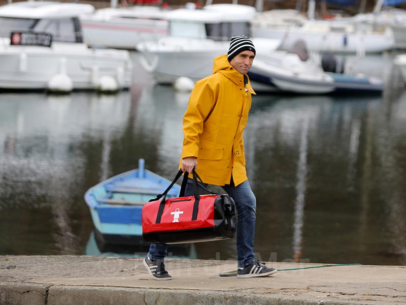 Ciré Isoder Guy Cotten, sac Uno et bonnet marin Brin de Mer