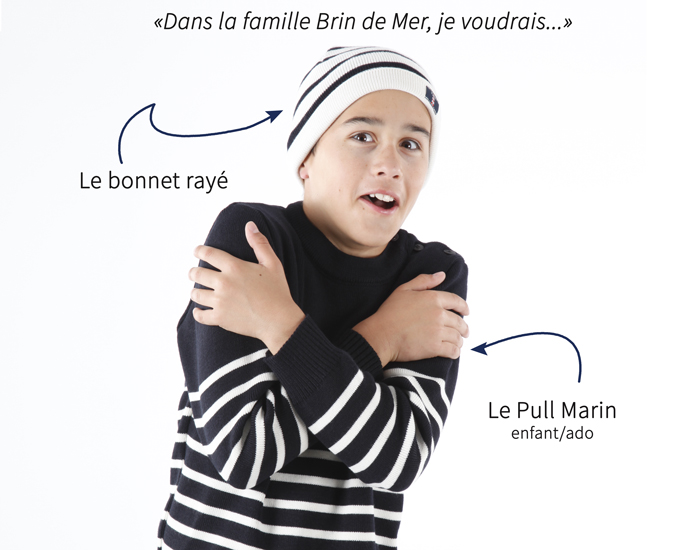 Pull marin et bonnet made in Bretagne / Made in France