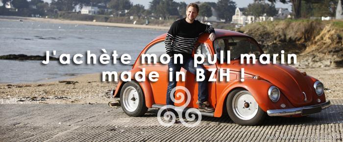 Le 1er pull marin Brin de Mer se met en scène en Bretagne Sud...