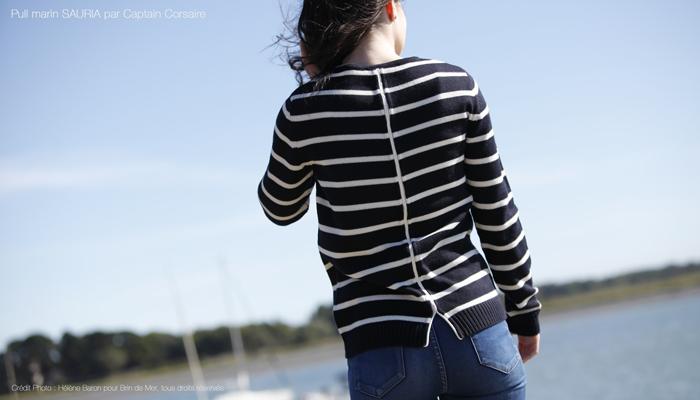 pull rayé pour femme par Captain Corsaire