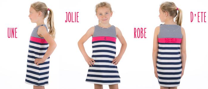 Robe à rayures pour fille du 6 mois au 6 ans