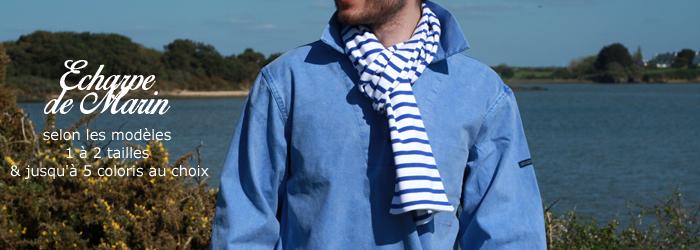 Echarpe rayée style marin