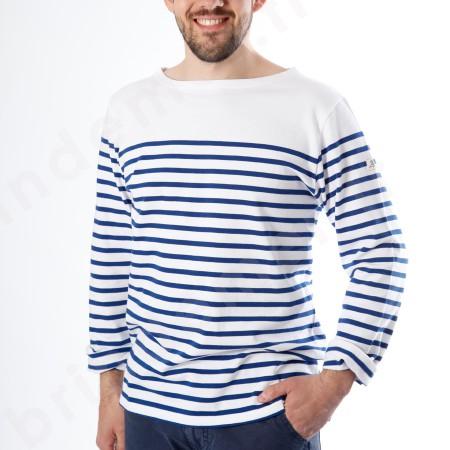 Marinière de marin, marinière de pêcheur en blanc et bleu