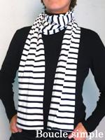 boucle simple - porter l'écharpe de marin