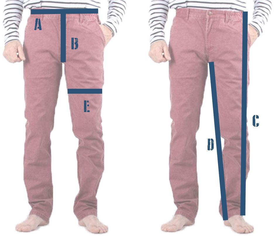 Mesures de pantalon