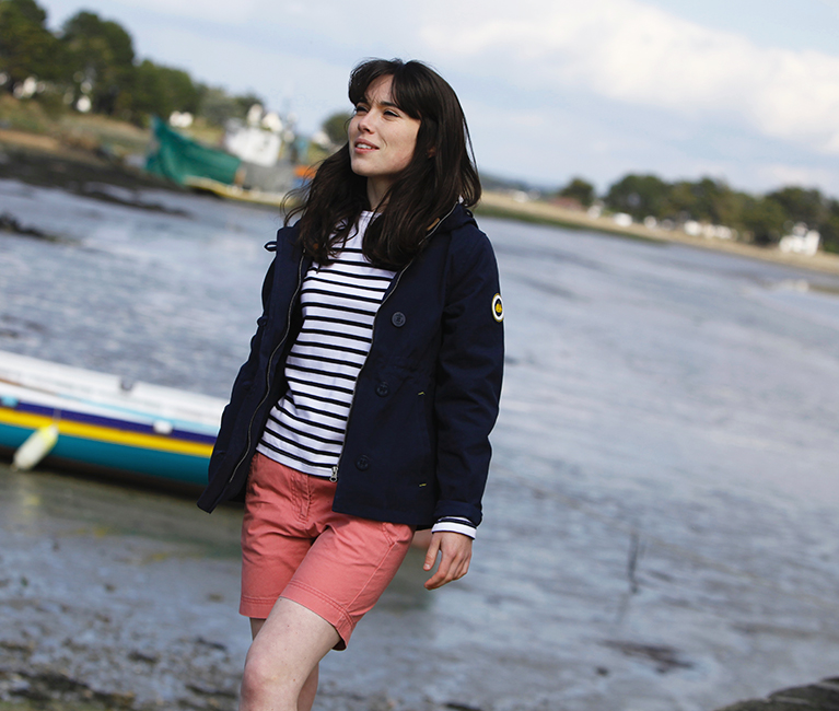 Short d'été pour femme et veste hublot coupe-vent