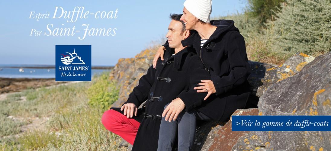 Découvrez la gamme Duffle-coats par Saint James