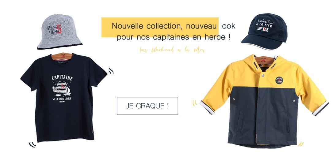 Nouvelle collection bébé garçon Week-end à la Mer !