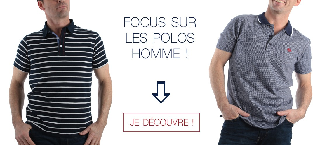 Sélection de polos pour homme !