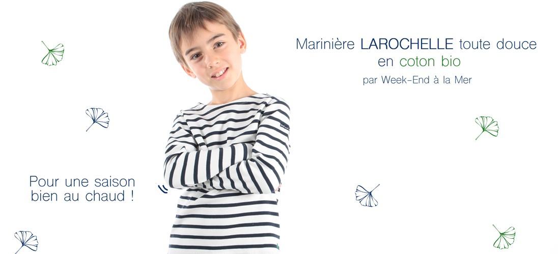 Marinière enfant LAROCHELLE en coton bio